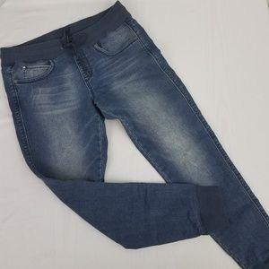 Seven7 Jogger Denim Jeans Drawstring Waist Sz 10